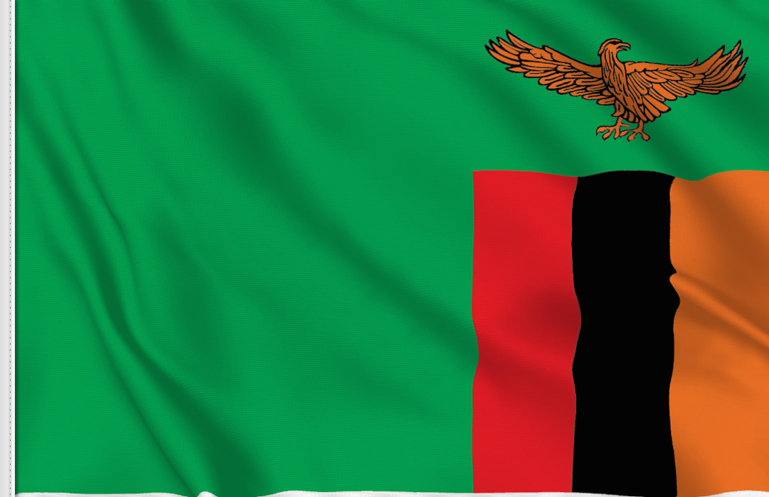 flag sticker of Zambia