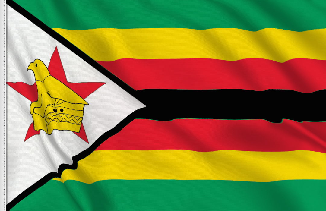 flag sticker of Zimbabwe