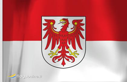 Flag sticker of Brandenburg