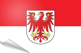 Adhesive flag Brandenburg