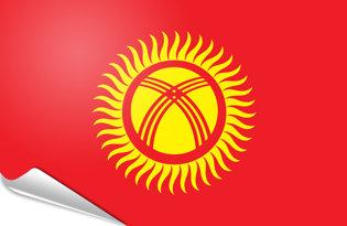 Adhesive flag Kirghisia - Kirghizistan