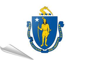 Adhesive flag Massachussetts