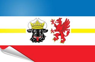 Adhesive flag Mecklenburg-West Pomerania