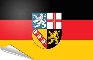 Adhesive flag Saar Saarland