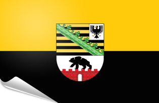 Adhesive flag Saxony Anhalt