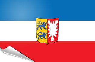 Adhesive flag Schleswig-Holstein