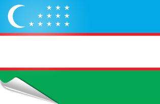Adhesive flag Uzbekistan