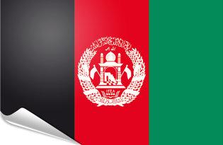 Adhesive flag Afghanistan