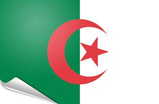 Adhesive flag Algeria
