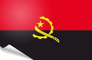 Adhesive flag Angola