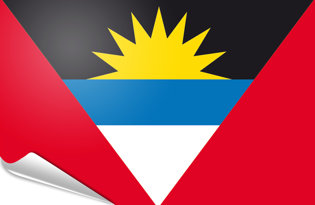 Adhesive flag Antigua