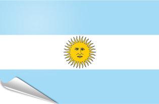 Adhesive flag Argentine
