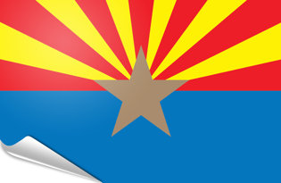 Adhesive flag Arizona