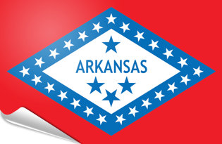 Adhesive flag Arkansas