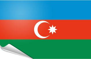 Adhesive flag Azeirbaigian
