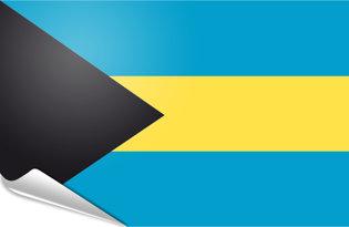 Adhesive flag Bahamas