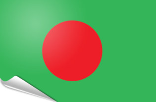 Adhesive flag Bangladesh