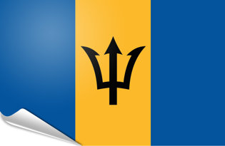 Adhesive flag Barbados
