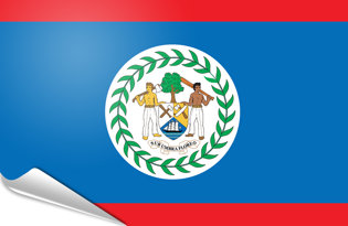 Adhesive flag Belize