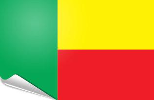 Adhesive flag Benin