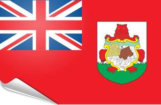 Adhesive flag Bermuda