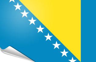 Adhesive flag Bosnia