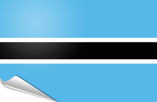 Adhesive flag Botswana