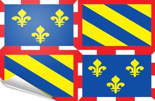Adhesive flag Bourgogne