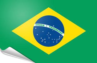 Adhesive flag Brazil