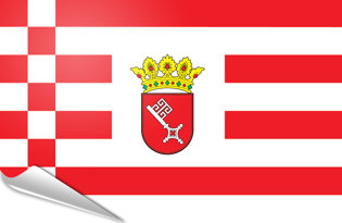 Adhesive flag Bremen