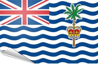 Pegatinas adesivas Oceano Indiano Britanico