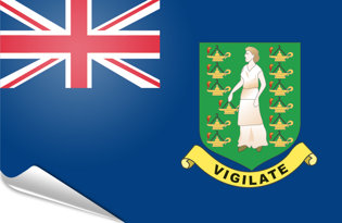 Adhesive flag British Virgin Islands
