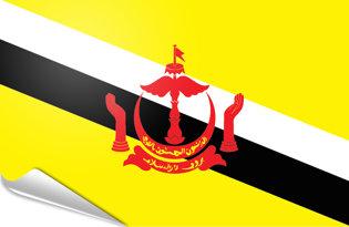 Adhesive flag Brunei