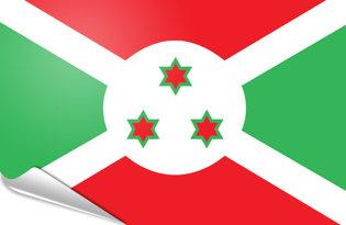 Adhesive flag Burundi