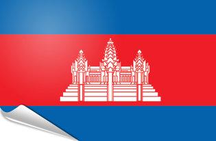 Adhesive flag Cambodia