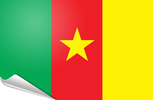 Adhesive flag Cameroon