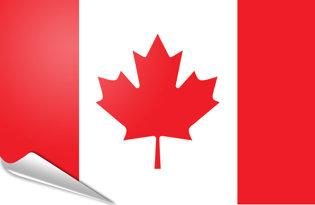 Adhesive flag Canada