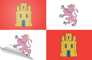 Adhesive flag Castilla Leon