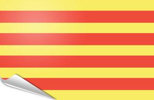 Adhesive flag Catalunya