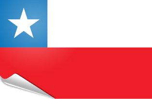 Adhesive flag Chile