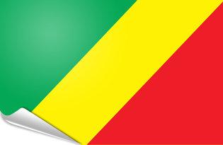Adhesive flag Congo
