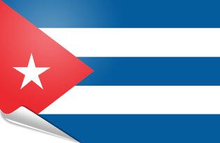 Adhesive flag Cuba