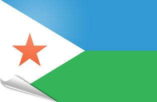 Adhesive flag Djibouti