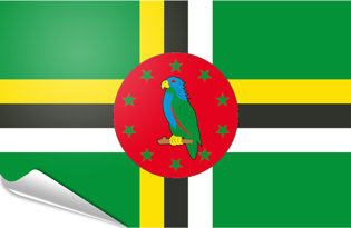 Adhesive flag Dominica