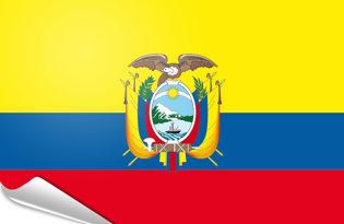 Adhesive flag Ecuador