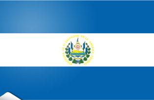 Adhesive flag El Salvador