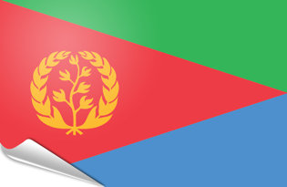 Adhesive flag Eritrea