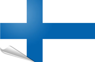 Adhesive flag Finland