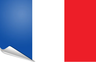 Adhesive flag France