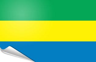 Adhesive flag Gabon